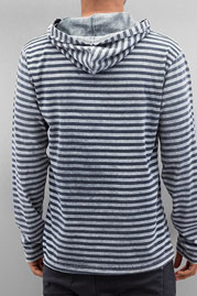 JUST RHYSE Stripes Hoody Grey/Blue auf oboy.de