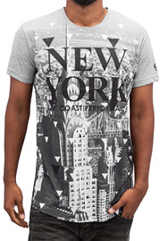 JUST RHYSE New York T-Shirt Grey auf oboy.de