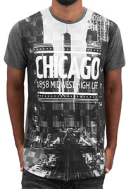JUST RHYSE Chicago T-Shirt Black/White auf oboy.de
