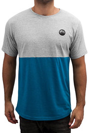 JUST RHYSE Harro T-Shirt Blue/Grey auf oboy.de