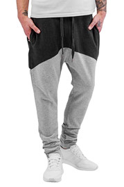 JUST RHYSE Boane Sweat Pants Light Grey/Dark Gre auf oboy.de