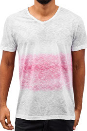 JUST RHYSE Melange T-Shirt White/Red auf oboy.de
