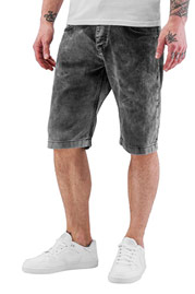 JUST RHYSE Acid Wash Shorts Dark Grey auf oboy.de
