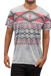 JUST RHYSE Pattern II T-Shirt Grey auf oboy.de
