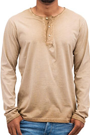 JUST RHYSE Placket Longsleeve Brown auf oboy.de