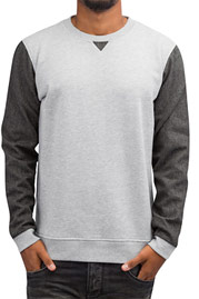 JUST RHYSE York Pullover Light Grey Melange auf oboy.de