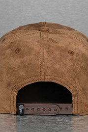 JUST RHYSE Leather Look Snapback Cap Brown auf oboy.de