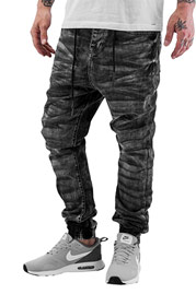 JUST RHYSE Luke Antifit Jeans Black Wash auf oboy.de