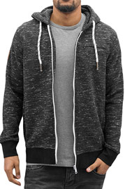 JUST RHYSE Pasadena Zip Hoody Black/White auf oboy.de