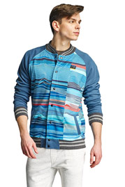 JUST RHYSE Bell Springs College Jacket Turquoise auf oboy.de