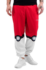 JUST RHYSE Catch Them Sweatpants Red/White auf oboy.de