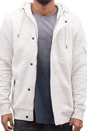 JUST RHYSE Malina Bay Zip Hoody Off White auf oboy.de
