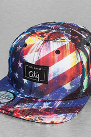 JUST RHYSE Stars Stripes Snapback Cap Colored auf oboy.de