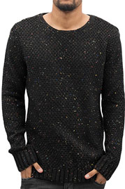 JUST RHYSE Soft Knit Sweatshirt Black auf oboy.de