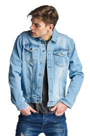 JUST RHYSE Freshwater Jeans Jacket Light Blue auf oboy.de
