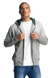 JUST RHYSE Palo Verde Zip Hoody Light Grey auf oboy.de