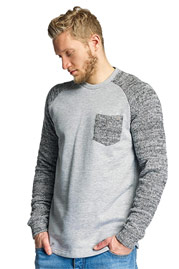 JUST RHYSE Sweat Shirt Grey Melange auf oboy.de