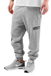 WHO SHOT YA  Sweat Pants Grey Melange auf oboy.de