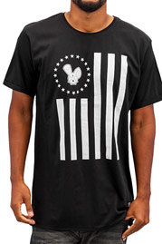 WHO SHOT YA  Stars And Stripes T-Shirt Black auf oboy.de