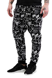WHO SHOT YA  Draw 1 Sweatpants Black auf oboy.de