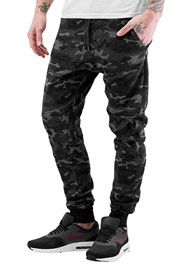 WHO SHOT YA  Camo Sweatpants Black/Grey auf oboy.de