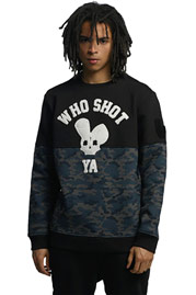WHO SHOT YA  Darkcamou Sweatshirt Black auf oboy.de