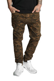 WHO SHOT YA  Genius Antifit Jeans Brown Camouflage auf oboy.de