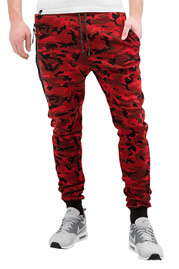 WHO SHOT YA  Camo Sweat Pants Red auf oboy.de