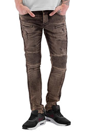 2Y Quilted Skinny Jeans Brown auf oboy.de