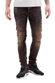 2Y Used Skinny Jeans Brown auf oboy.de