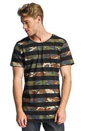 2Y Camo Stripes T-Shirt Black auf oboy.de